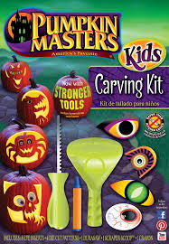 pumpkin carving tools for kids. pumpkin masters kids carving kit provides scary and silly patterns to choose from tools specially designed just for them make m