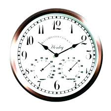 outdoor clock and thermometer set decorative clocks outside barometer