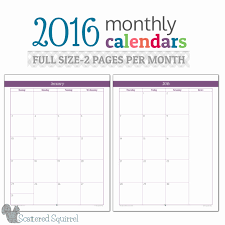 Two Page Monthly Calendar Printable Free Printable 2 Month