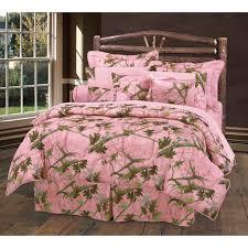 hunters pink oak camo comforter set queen