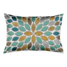 teal and gold pillows. Fine Pillows Petals Standard Pillow Sham In BlueTealGold Throughout Teal And Gold Pillows L