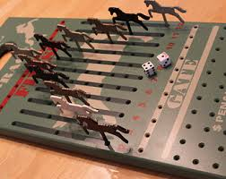 Wooden Horse Race Game Rules Wooden game Etsy 46