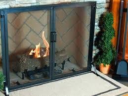 fireplace screens with doors single panel screens fireplace screen doors home depot