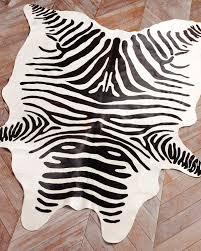 image of best zebra skin rug