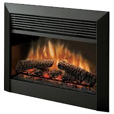 dimplex 32 in w 5 115 btu black metal electric fireplace with thermostat and remote
