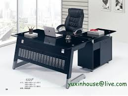 Office Furniture Modern Stunning Hot Sale Tempered Glass Office Desk Boss Desk Table Commercial