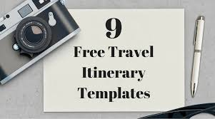 Free Itinerary Maker 9 Useful Travel Itinerary Templates That Are 100 Free