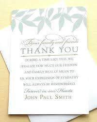 Thank You For Sympathy Card Sympathy Card From Coworkers Thank You Note For Sympathy Card From