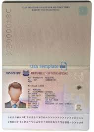 Us Passport Template Psd Singapore Passport Template Psd