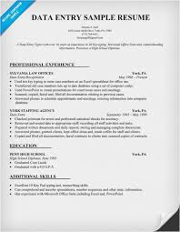 Sample Resume Of Data Entry Clerk Free Data Entry Sample Resume