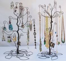 display holder set earring necklace diy diy jewelry tree wire image home garden and rtecx