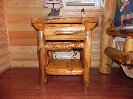 rustic look furniture. furnitureimpressive style log wood nightstand table ideas using small cone lamp on laminate rustic look furniture n