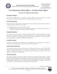 Sample Fire Resume Safety Officer Resume Sample Pdf Sidemcicek 24