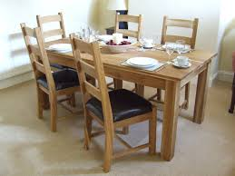 Light Oak Kitchen Chairs Furniture Tasty Simple Dining Room Design With Light Wood