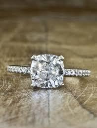 best 25 cushion cut diamond ring ideas