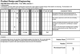 Sample Assessment Form Sample Assessment Form Used In Product Design And Engineering At
