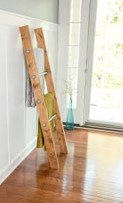 Buy a Custom Made Wooden Ladder W/ Industrial Pipe - Blanket ... & Custom Made Wooden Ladder W/ Industrial Pipe - Blanket Ladder - Quilt Rack  - Housewarming Adamdwight.com