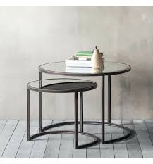 coffee table nest argyle coffee table nest of 2 round coffee table nesting