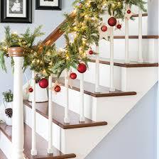 ... DIY Christmas Stairway Garland