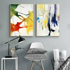 Enjoy free shipping on most stuff, even big stuff. Nordic Abstract Modern Landscape Canvas Painting Colorful Poster For Bedroom Living Room Home Decorative Wall Art Decor Alley Corner Nordic Wall Decor Home Decor