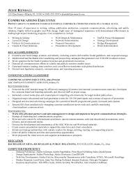 Communications Resume Examples
