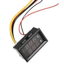 10a digital voltmeter ammeter dual led color 2in1