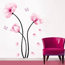 21 pink wall decal wall sticker home decor wall art butterfly on pink and gold flower wall art with pink wall decals images home design wall stickers