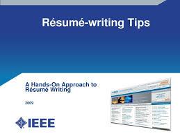 Ppt R E Sum E Writing Tips Powerpoint Presentation Id 3198714