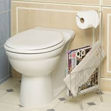 Toilet Roll Holder Magazine Rack Amazing Standing Toilet Roll Holder And Magazine Rack Bathroom Dispenser