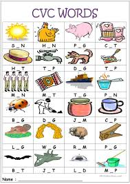 This worksheet will help your second grader practice his skills with phonics and reading by filling in the missing consonant at the end of the word. English Esl Cvc Worksheets Most Downloaded 35 Results