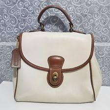 COACH Vintage Leather Court Flap Turn Lock Satchel Bag Purse Handbag
