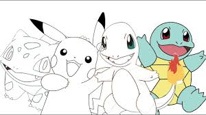 Small Picture Pokemon Pikachu Charmander Bulbasaur Squirtle Coloring Page