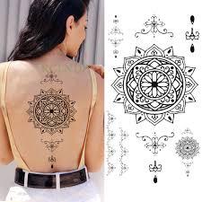 водостойкая временная татуировка наклейка мандала тотем поддельный тату