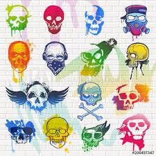 skull vector mexican dead head and