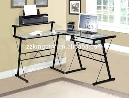 black wood corner computer desk with drawer white canada keyboard home office study workstation long glass
