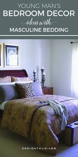 bedroom masculine bedding ideas awesome young man s bedroom decor ideas masculine bedding
