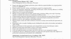 Property Manager Resume Example Property Management Resume Template