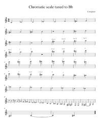 Trumpet Chromatic Scale Chart Chromatic Scale Bb Sheet Music For Trumpet Download Free In