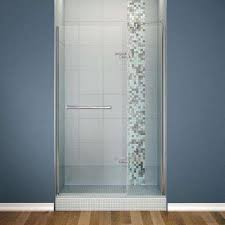 semi framed pivot shower door in chrome