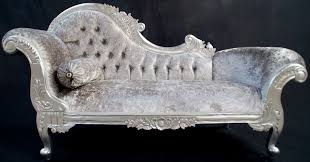 delightful gray crushed velvet chaise lounge  federto