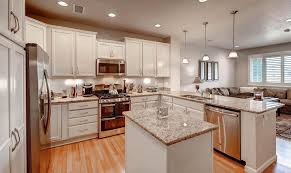 Traditional Kitchen With U Shaped Hardwood Floors Raised