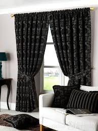 dulux luxury heavy thick cut velvet black pencil pleat curtain