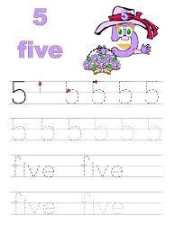 number-5-tracing-worksheets-for-preschool-kindergarten Â« funnycrafts