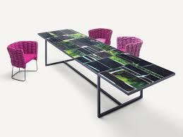 rectangular glazed lava table sciara table by paola lenti