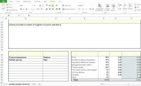 Supplier Scorecard Template Excel Developing A Supplier Scorecard Presented By Group 1 S Vendor