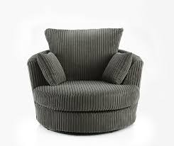 swivel round cuddle chair fabric chenille leather designer ter cushions grey co uk kitchen home