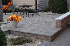 Raised paver patio Outdoor Decorative Landscapes Raised Paver Patios And Walks