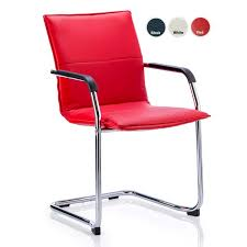 red leather office chair. JULES Red Leather Office Visitor Boardoom Chairs Chair E
