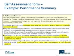 Assessment Example Completed Performance Appraisal Examples Employee Self Evaluation ...