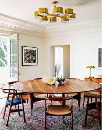 modern round wood dining room tables 41 best oval dining table ideas images on